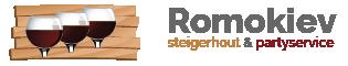 Romokiev Steigerhout & Partyservice | Beesel, Limburg | Logo
